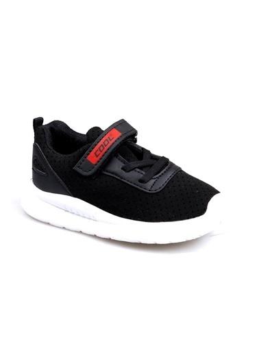 Cool 20-S20 Siyah Erkek Çocuk Bebe Fileli Günlük Spor Ayakkabı Siyah